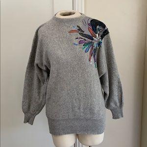 Vintage 70s 80s Embellished sweater